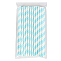 Candy Stripe Blue Cake Pop Sticks 25pcs