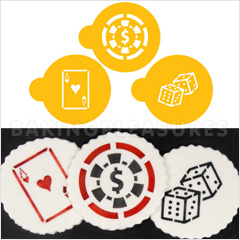 Casino Night Stencils 3pcs