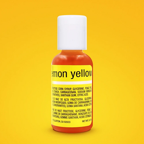 Chefmaster Liqua-Gel Lemon Yellow 0.7oz