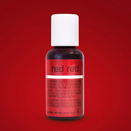 Chefmaster Liqua-Gel Red Red 0.7oz