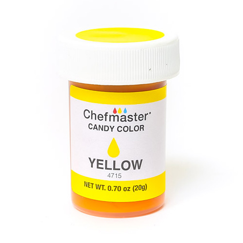 Chefmaster Yellow Oil Based Candy Colour 20ml