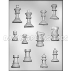 3 D Chess Set Chocolate Mould
