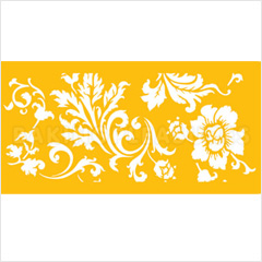 Chic Rose Border Stencil