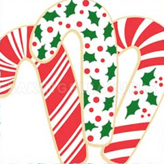 Christmas Candy Cane Cookie Cutter & stencil Set