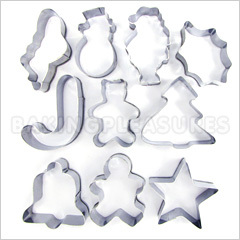 Cookie Cutter Christmas.Christmas Mini Cookie Cutter Set 10pcs