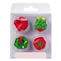 Christmas Edible Cupcake Toppers 12pcs