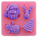 Christmas Friends Silicone Mould