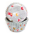 Christmas Gifts Grey Baking Cups (#550) 240pcs