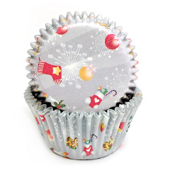 Christmas Gifts Grey Mini Baking Cups (#360)