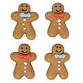 Christmas Gingerbread Men Edible Cupcake Toppers 12pcs