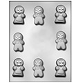 Christmas Gingerbread People Chocolate Mould