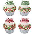 Christmas Greetings Cupcake Picks 12pcs
