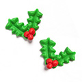 Christmas Holly & Berries Edible Cupcake Toppers 12pcs