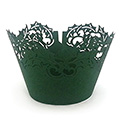 Christmas Holly Green Lace Cupcake Wrappers 12pcs