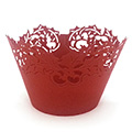Christmas Holly Red Lace Cupcake Wrappers 12pcs