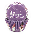 Christmas Purple Baking Cups (#550) 240pcs