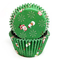 Christmas Santa Snowman Green Baking Cups (#550) 240pcs