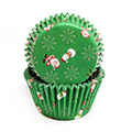 Christmas Santa Snowman Green Mini Baking Cups (#360) 240pcs