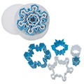 Christmas Snowflake Plastic Cutters 5pcs