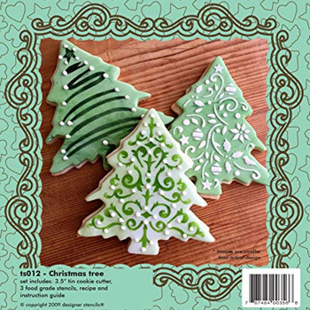 Christmas Tree Cookie Cutter Stencil Set