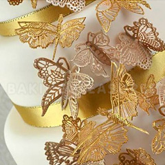Claire Bowman Beautiful Butterflies Cake Lace Mat