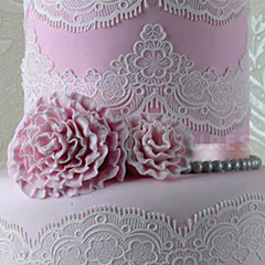 Claire Bowman Tiffany 3d Cake Lace Mat