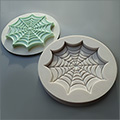 Alphabet Moulds Spider Cobweb Cupcake Topper Silicone Mould