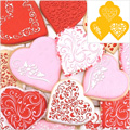 Contemporary Hearts Stencils 3pcs