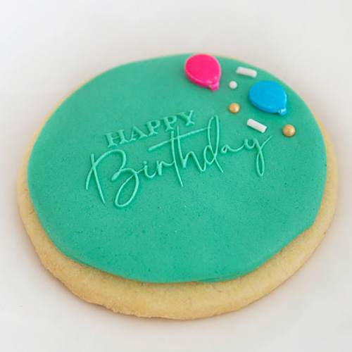 Cookie Embosser Stamp Happy Birthday