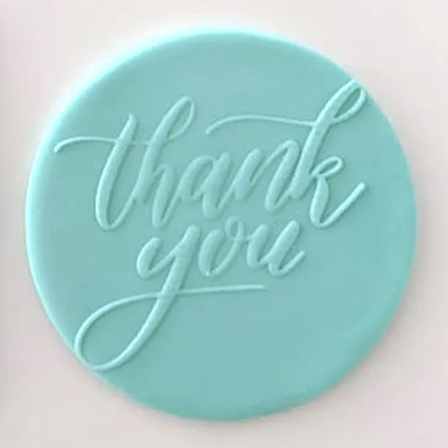Cookie Embosser Stamp Thank You