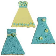 Cookie Texture Sets Formal Dress