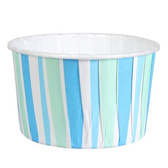 Culpitt Blue Stripe Baking Cups