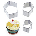 Cupcake Mini Stainless Steel Cutters 3pcs
