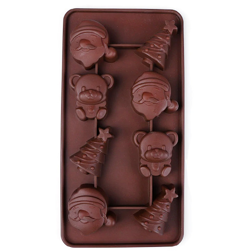 Cute Christmas Silicone Chocolate Mould