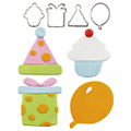Cutie Cupcake Birthday Cutter Set  4pcs