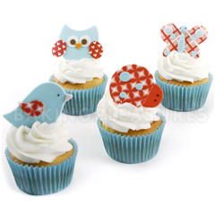 Cutie Cupcake Flutter Friends Cutter Set 4pcs