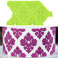 Marvelous Molds Damask Pattern 01 Silicone Onlay