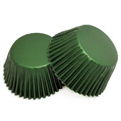 Dark Green Foil Mini Baking Cups (#360)