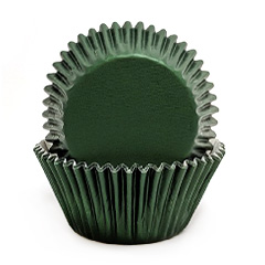 Dark Green Foil Mini Baking Cups (#360) 240pcs