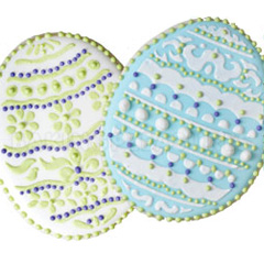 Decorated Easter Eggs Cookie Stencils