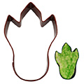 Dinosaur Foot Brown Cookie Cutter