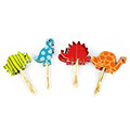 Dinosaurs Paper Cupcake Picks 24pcs