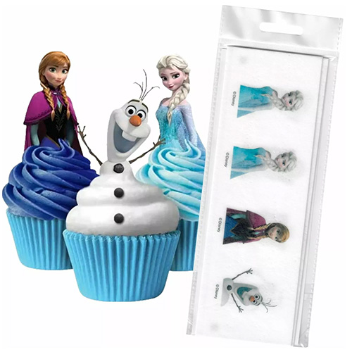 Disney Frozen Edible Wafer Cupcake Toppers