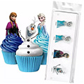 Disney Frozen Edible Wafer Cupcake Toppers 16pcs