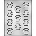 Dog Paw Print Chocolate Mould