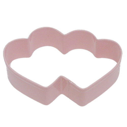 Double Heart Pink Cookie Cutter