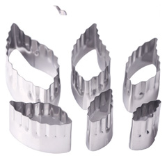 Double Sided Leaf Cutters 6pcs
