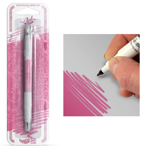 Rainbow Dust Dusky Pink Edible Food Pen