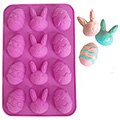 Easter Bunny & Egg Silicone Chocolate Mould