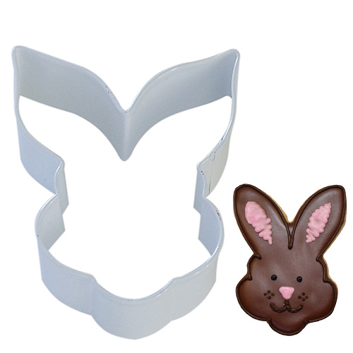 Easter Bunny Face White Cookie Cutter